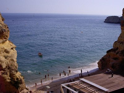 Typická pláž Algarve