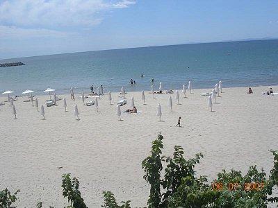 Pláž v městečku Sveti Vlas (nahrál: Mira)
