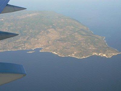 Let nad Zakyntosom - Najsevernejšia časť ostrova (nahrál: Clea999)
