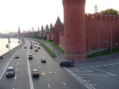 kremelská zeď na nábřeží (nahrál: Kamil Hainc)